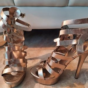 Gold Strap High Heels